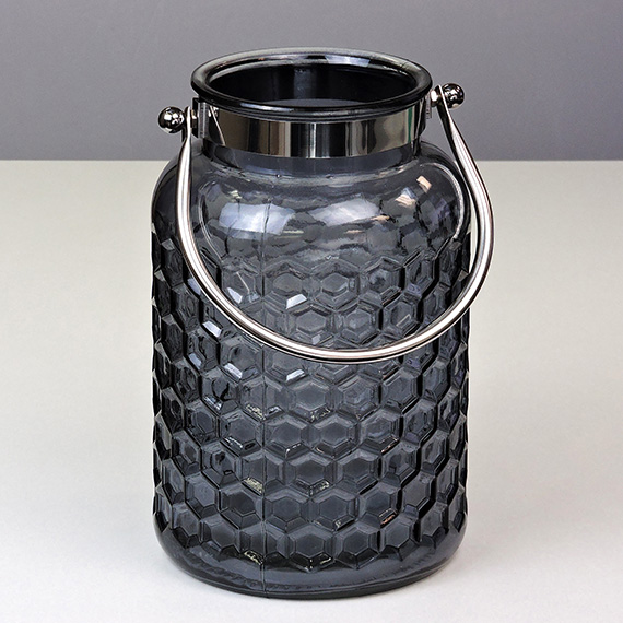 Lantern Smoke LG Checkered Metal Handle