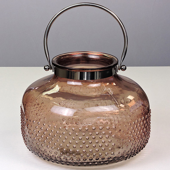 Lantern Brown XL Oval Checkered Silver Handle