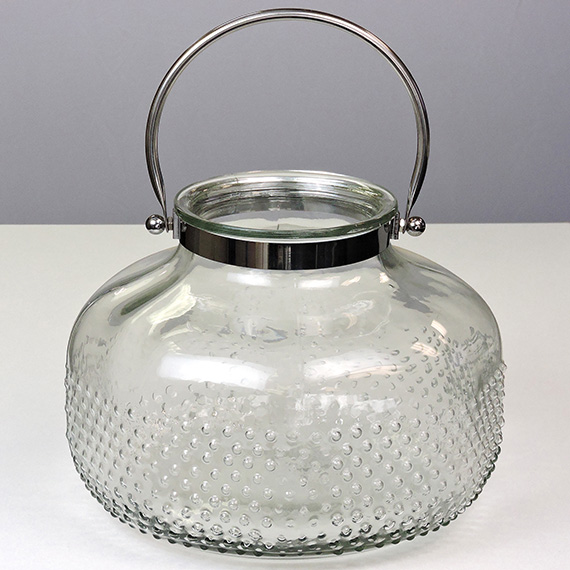 Lantern Clear XL Checkered Silver Handle