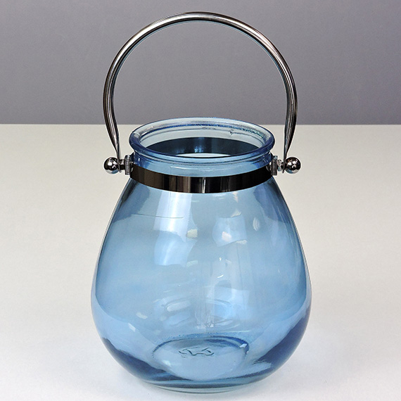 Lantern Navy MED Metal Handle