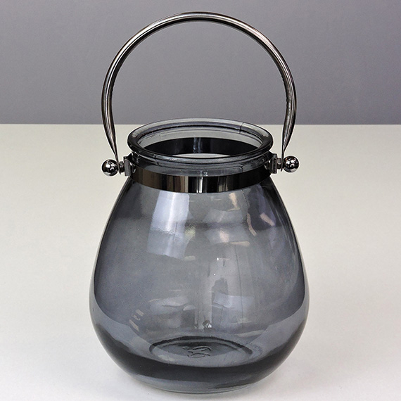 Lantern Smoke MED Silver Handle