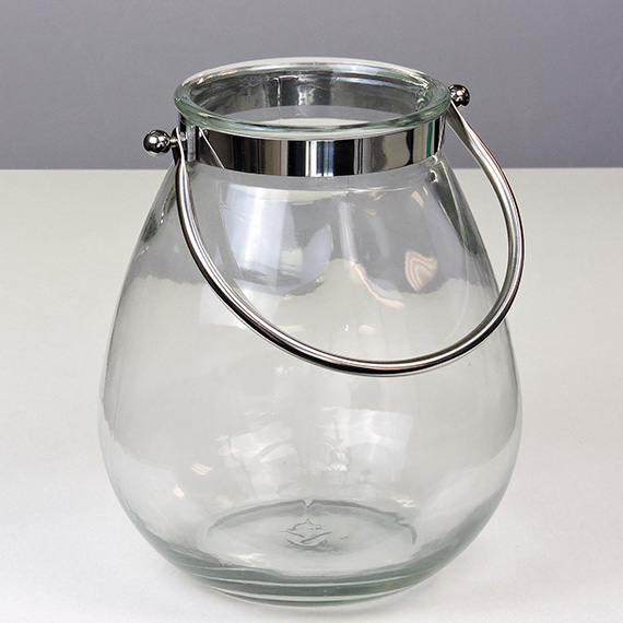 Lantern Clear LG Oval Metal Handle
