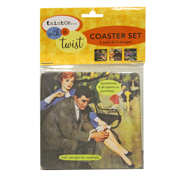 Coaster Set Assortment Anne Taintor
