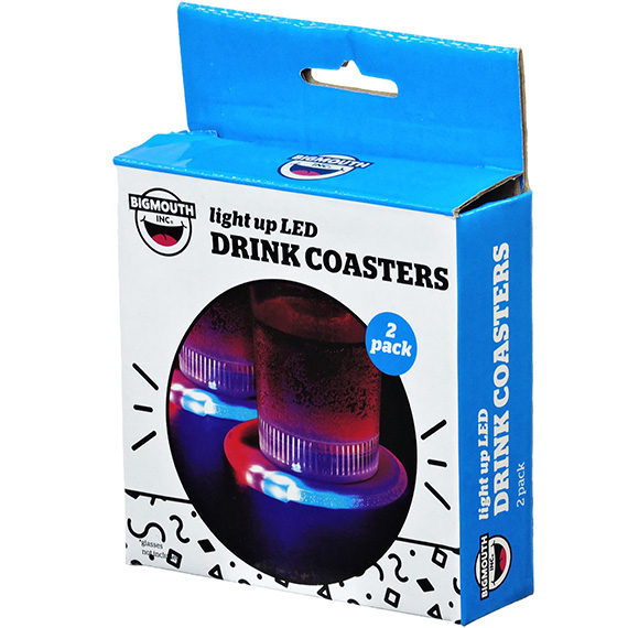 Drink Coasters Light Up LED 2 Pk