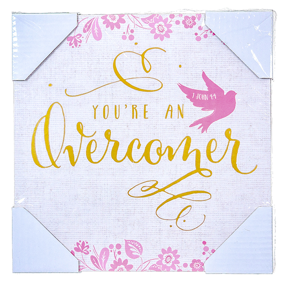 You're An Overcomer w/Flowers Dove Wall Art 12