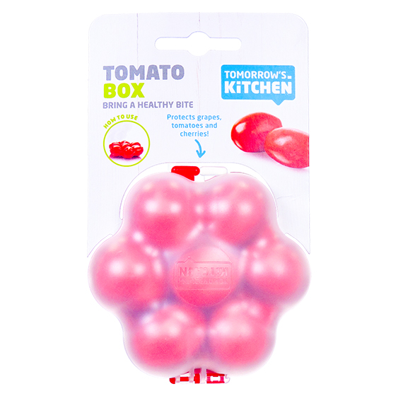 Tomato Box w/Flip Top Click Close - Red