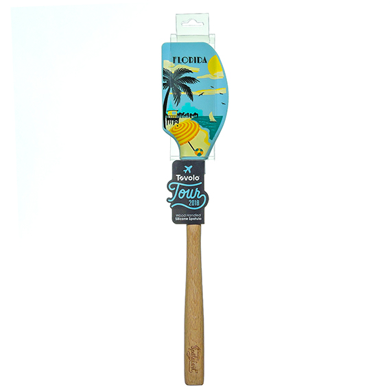 Tovolo Tour wood handled silicone Spatula - Florida RS List