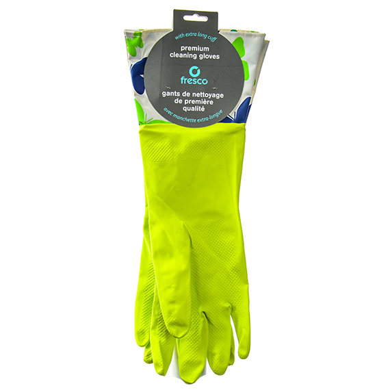 Fresco Premium Cleaning Gloves Extra Long Cuff Green