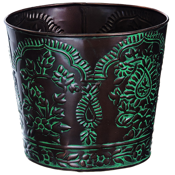 Tapered Planter 6 Inch Paisley