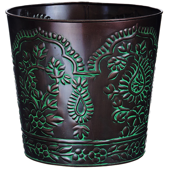 Tapered Planter 10 Inch Paisley