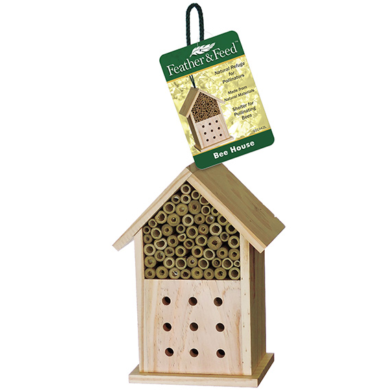 Feather & Feed Pine Bee House