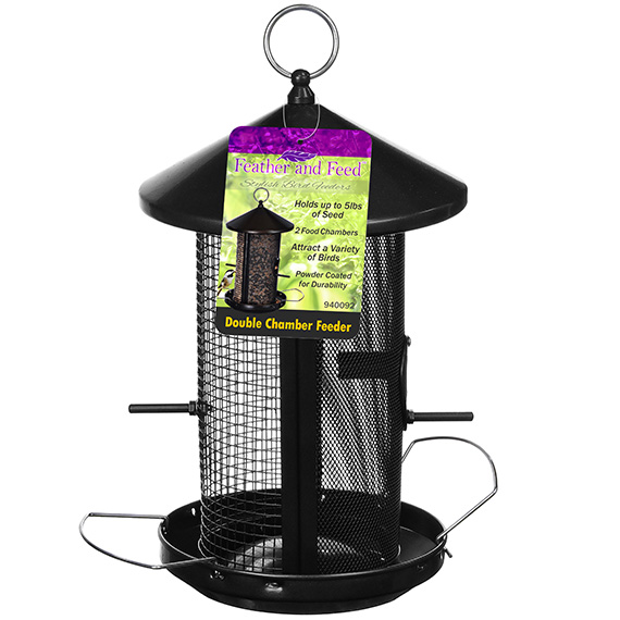 Feather & Feed Double Chamber Bird Feeder