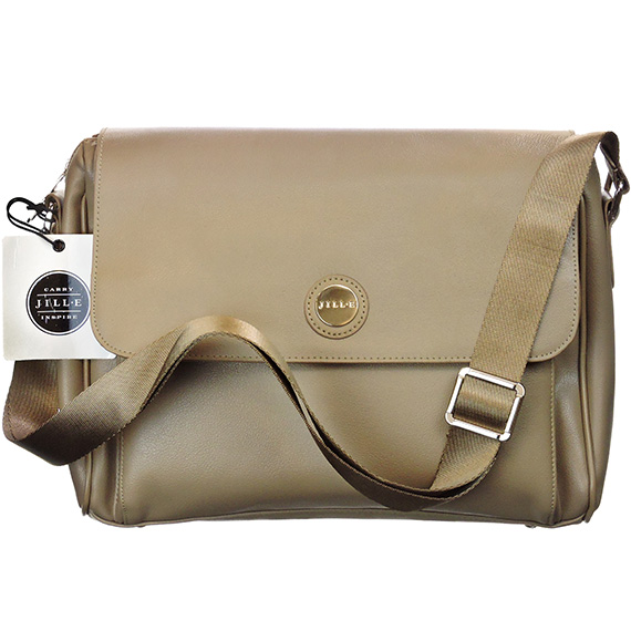 Bag Tablet Messenger Starfish Leather Taupe