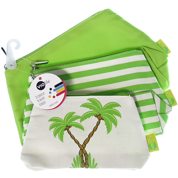 Accessory Bags Pineapple Green 3pc