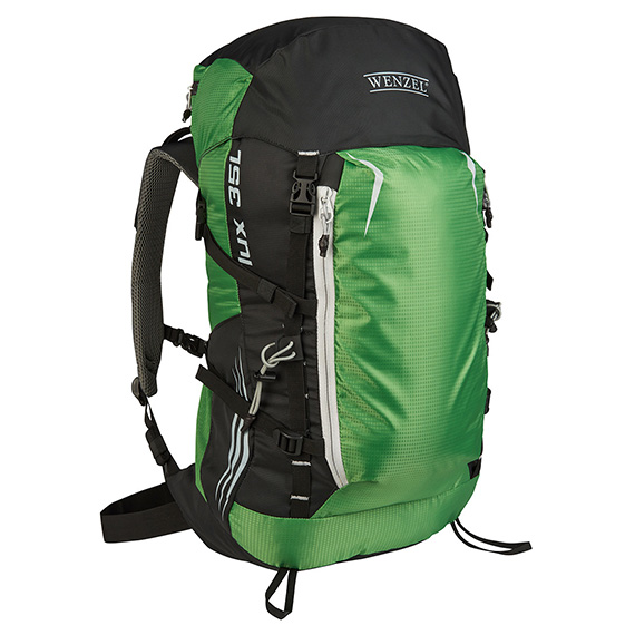 Wenzel Flux 35 Liter Backpack Green With Black Side