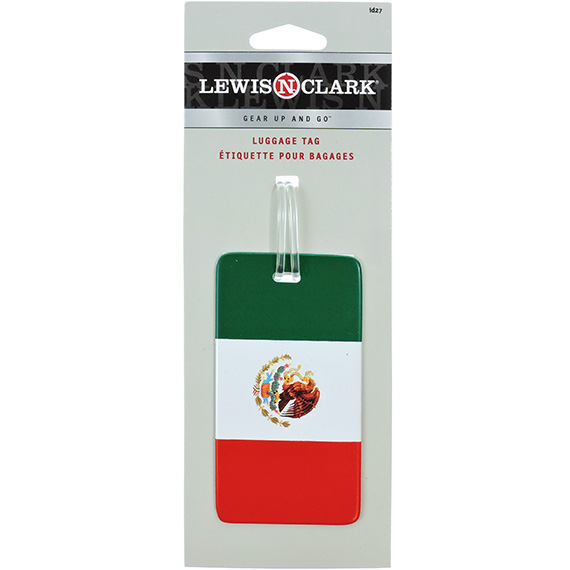 Luggage Tag Plastic Mexican Flag