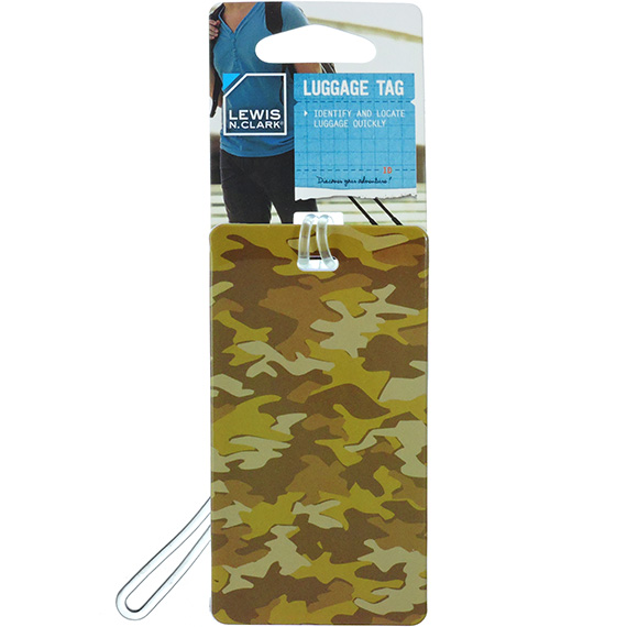 Luggage Tag Desert Camo