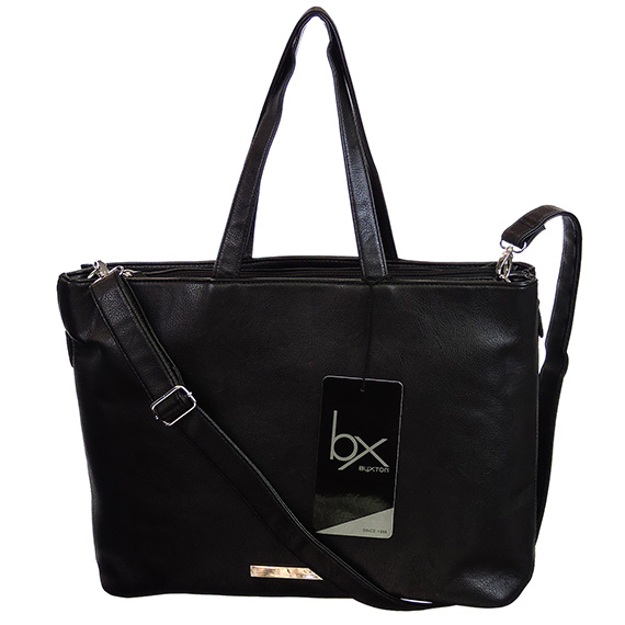 Zipping Around Tote Black 15.6 Inch Laptop Bag