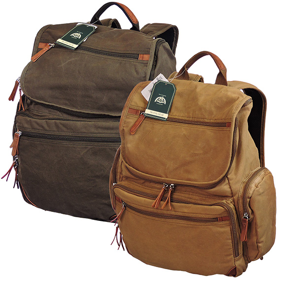 Canvas Backpack Laptop Bag Asst