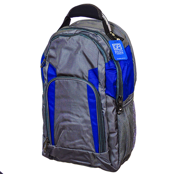 Vulkan Backpack 19 Inch Grey With Blue Trim Durable Nylon