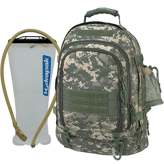 TAC PAK with Hydrapak - Camo Backpack - Expandable