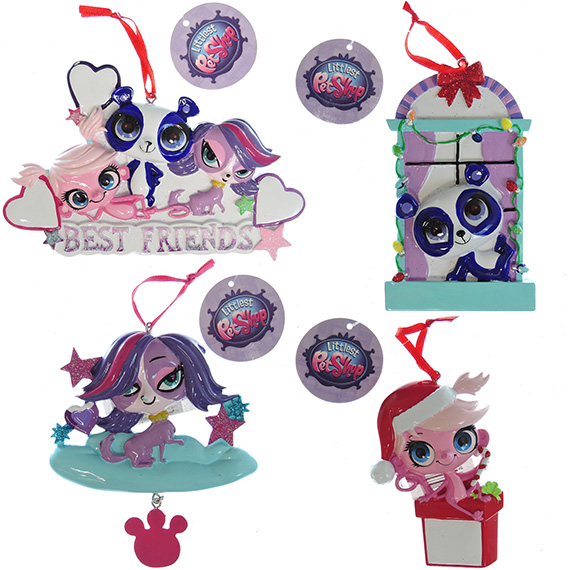 Ornament Licensed Littlest Pet Shop 4 Asst