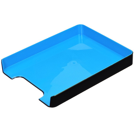 Fusion Letter Tray Black/Blue 12.63 X 10 X 1.75 in