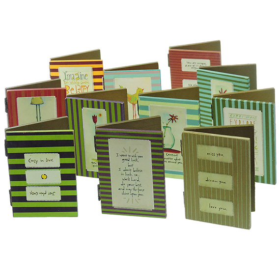 Wooden Photo Frame w/ Chalkboard & Message 11 Assorted