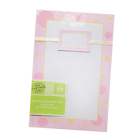Invitation Announcement Pink Kit 10 Ct