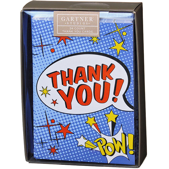 Thank You Card Comic Book 24ct