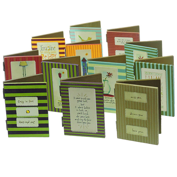 Wooden Photo Frame w/ Chalkboard & Message 12 Assorted