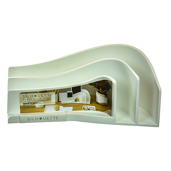 Shape Your Space Breezeway Sorter Organizer White Large