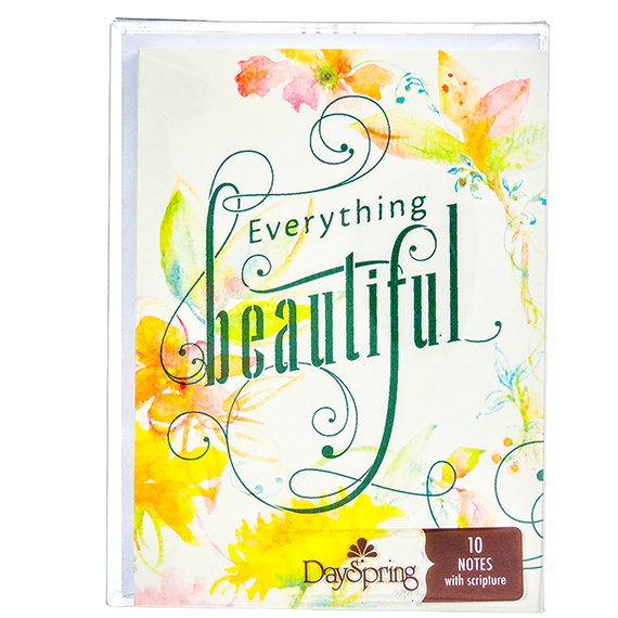 10 Notes and Envelopes w/Scripture - Everything Beautiful