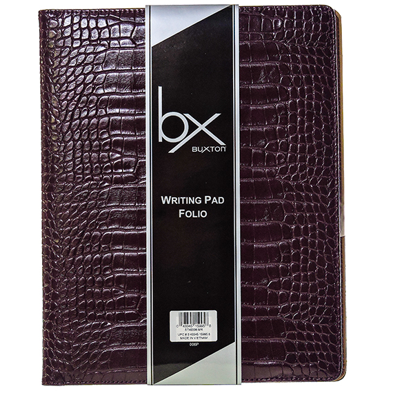 Crocodile Writing Pad Folio with paper tablet Maroon