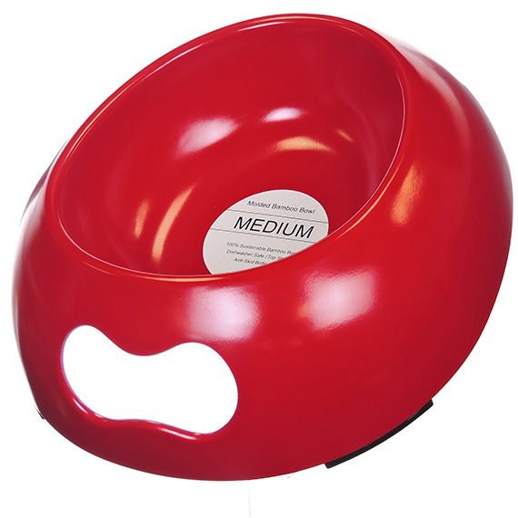 Molded Bamboo Bowl - Medium - Red