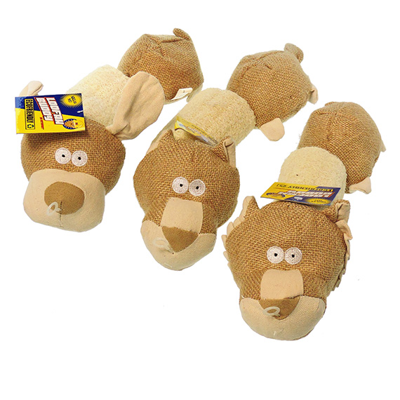 Dog Toy Loofah Buddy Assortment