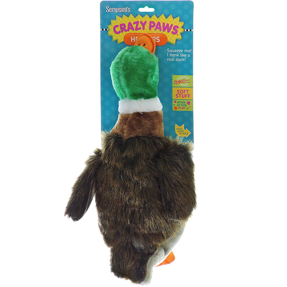 Dog Toy Crazy Paws Honkers Plush Duck