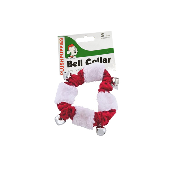 Pet Collar Small Plush Holiday Bells