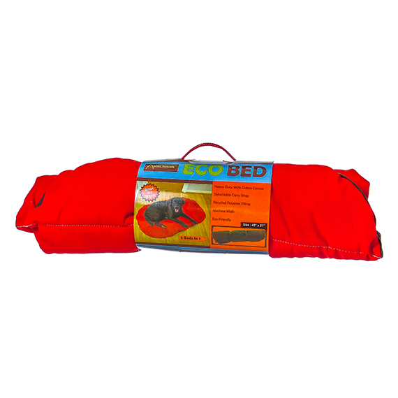 Eco Bed for Dogs 40 x 27 inches Red and Chocolate