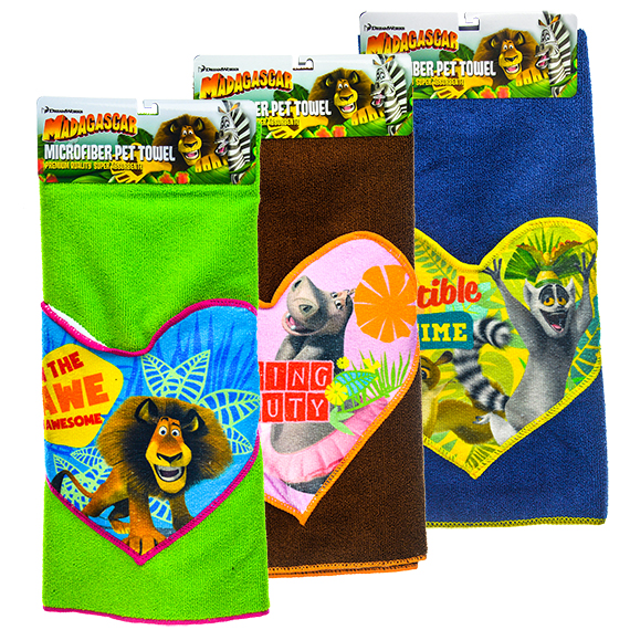 Madagascar Microfiber Pet Pocket Towels Lg. Assorted
