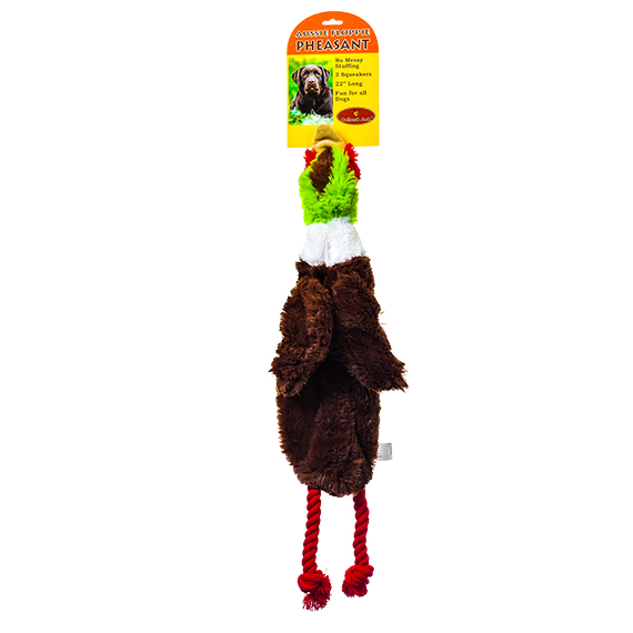 Floppie Pheasant Dog Toy with 2 Squeakers - 22