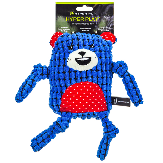 Navy Bear Interactive Dog Toy Multi Texture and Noise