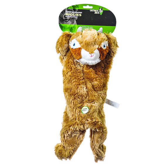 Super Squeaking Biggies with Treat Pocket - Chipmunk Dog Toy
