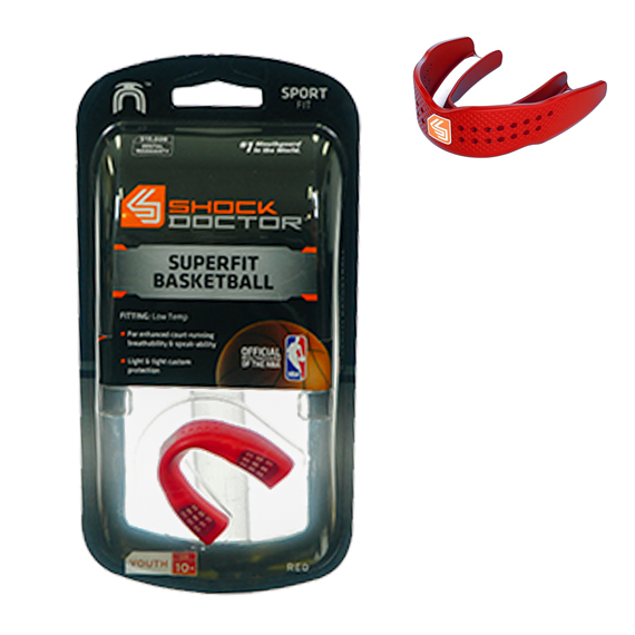 Mouth Guard SuperFit Basketball S/less Red Y