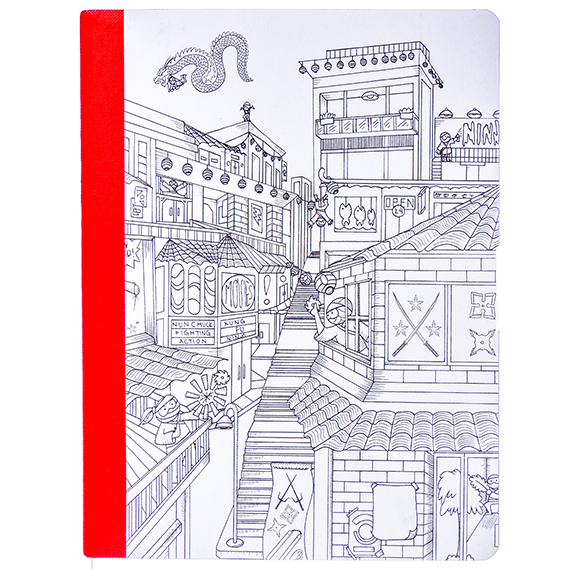 Composition Lined Notebook-60 pg-Hall Pass-coloring Ninja