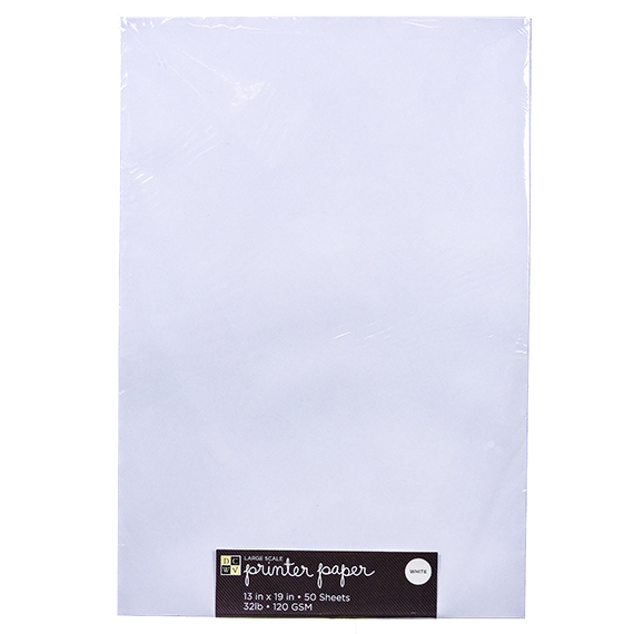 Large Scale Printer Paper 32 lb - 11 x 17 50 sheets white