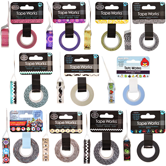 Tape Works 11 Assorted Colors