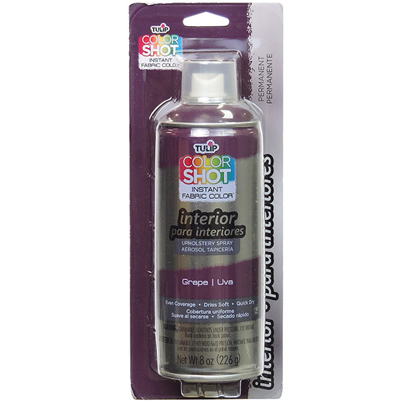 Colorshot Interior Upholstery Spray Grape 8oz Bilingual