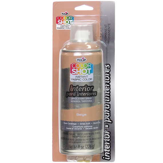 Colorshot Interior Upholstery Spray Beige 8oz Bilingual