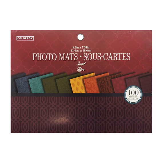 Paper Pad 4.5 In Designer Photo Mats Jewel 100 Sheets